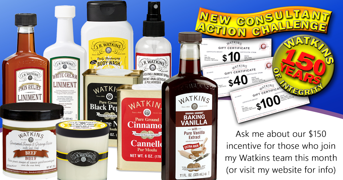 Products with New Consultant Action Challenge banner